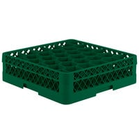 Vollrath TR12A Traex Rack Max Full-Size Green 30-Compartment 4 13/16 inch Glass Rack with Open Rack Extender On Top