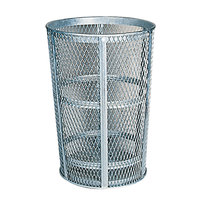 Rubbermaid FGSBR52 Black Round Steel Street Basket 45 Gallon (FGSBR52BK)