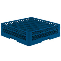 Vollrath TR12A Traex Rack Max Full-Size Royal Blue 30-Compartment 4 13/16 inch Glass Rack with Open Rack Extender On Top