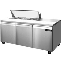 Continental Refrigerator SW72-12 72 inch Refrigerated Sandwich / Salad Prep Table