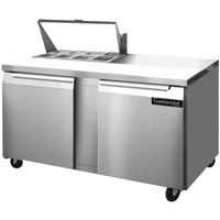 Continental Refrigerator SW60-8 60 inch Two Door Refrigerated Sandwich / Salad Prep Table