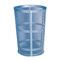 Rubbermaid FGSBR52 Cobalt Blue Round Steel Street Basket 45 Gallon (FGSBR52COB)