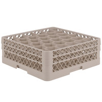 Vollrath TR12HH Traex Rack Max Full-Size Beige 30-Compartment 6 3/8 inch Glass Rack