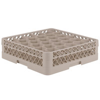 Vollrath TR12H Traex Rack Max Full-Size Beige 30-Compartment 4 13/16 inch Glass Rack