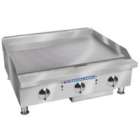 Bakers Pride BPHMG-2436i Natural Gas 36 inch Heavy Duty Manual Control Countertop Griddle - 120,000 BTU