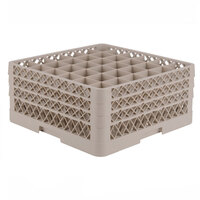 Vollrath TR7CCA Traex Full-Size Beige 36-Compartment 7 7/8 inch Glass Rack with Open Rack Extender On Top