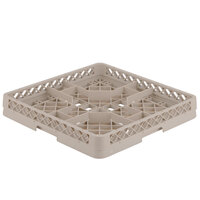 Vollrath TR13CCCC Traex Full-Size Beige 36-Compartment 6 3/4 inch Glass Rack