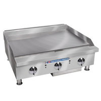Bakers Pride BPHMG-2436i Liquid Propane 36 inch Heavy Duty Manual Control Countertop Griddle - 120,000 BTU