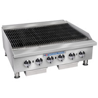 Bakers Pride BPHCB-2424i Liquid Propane 24 inch Heavy Duty Radiant Charbroiler - 80,000 BTU
