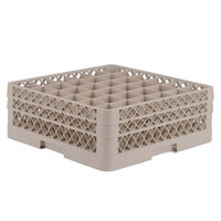 Vollrath TR7CA Traex Full-Size Beige 36-Compartment 6 3/8 inch Glass Rack with Open Rack Extender On Top