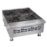 Bakers Pride BPHHP-424i 24 inch Four Burner Heavy Duty Hot Plate - 120,000 BTU