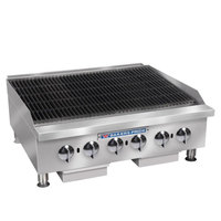 Bakers Pride BPHCRB-2448i Liquid Propane 48 inch Heavy Duty Glo-Stone Charbroiler - 160,000 BTU