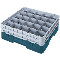 Cambro 25S1214414 Camrack 12 5/8 inch High Teal 25 Compartment Glass Rack