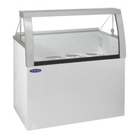 Nor-Lake HF040-WWG/0L Nova 27 inch Low Glass Ice Cream Dipping Cabinet