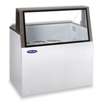 Nor-Lake HF160-WWG/0L Nova 69 inch Low Glass Ice Cream Dipping Cabinet