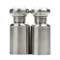 American Metalcraft SPM4 0.5 oz. Satin Finish Stainless Steel Salt and Pepper Shaker Set