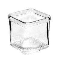 American Metalcraft GJ8 8 oz. Square Glass Condiment Jar - 12 / Case