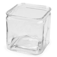 American Metalcraft GJ72 2.25 Qt. Square Glass Condiment Jar - 8/Case