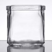 American Metalcraft GJ6 6 oz. Square Glass Condiment Jar - 12 / Case