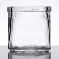 American Metalcraft GJ6 6 oz. Square Glass Condiment Jar
