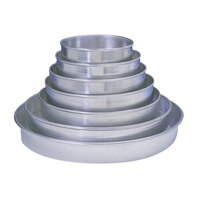 American Metalcraft HA90142P 14 inch x 2 inch Perforated Tapered / Nesting Heavy Weight Aluminum Pizza Pan