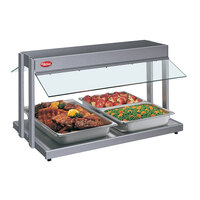Hatco GRBW-60 60 inch Glo-Ray Gray Granite Buffet Warmer with Infinite Controls - 2600W