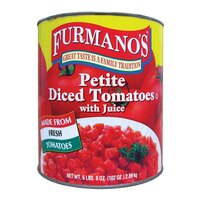 Petite Diced Tomatoes with Juice 6 - #10 Cans / Case