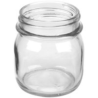 American Metalcraft MJ85 8.5 oz. Condiment Mason Jar - 6 / Pack