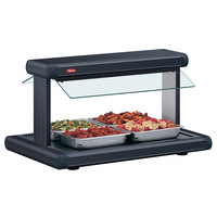 Hatco GR2BW-72 72 inch Glo-Ray Black Designer Buffet Warmer with Black Insets - 3185W