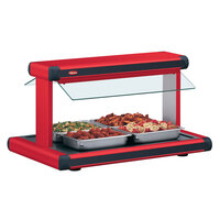 Hatco GR2BW-72 72 inch Glo-Ray Warm Red Designer Buffet Warmer with Black Insets - 3185W