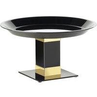 Cal-Mil 319-12-B7 12 inch x 7 inch Gold Trim Acrylic Pedestal