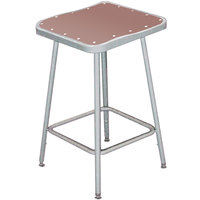 National Public Seating 6318 18 inch Gray Hardboard Square Lab Stool