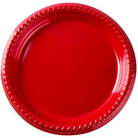 Dart Solo PS15R 10 1/4 inch Red Plastic Plate 25 / Pack