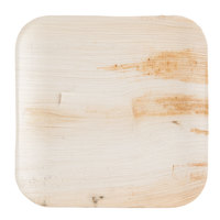Eco-gecko 10 inch Square Sustainable Palm Leaf Plate - 100/Case