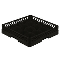 Vollrath TR4A Traex Full-Size Black 16-Compartment 4 13/16 inch Cup Rack with Open Rack Extender On Top