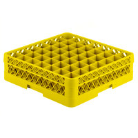 Vollrath TR9E Traex Full-Size Yellow 49-Compartment 4 13/16 inch Glass Rack