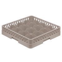 Vollrath TR4 Traex Full-Size Beige 16-Compartment 3 inch Cup Rack