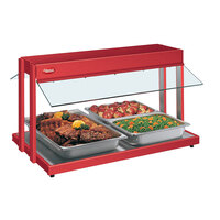 Hatco GRBW-54 54 inch Glo-Ray Warm Red Buffet Warmer with Thermostatic Controls - 2290W