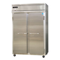 Continental Refrigerator 2FS-HD 52 inch Solid Half Door Shallow Depth Reach-In Freezer