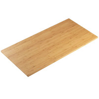 Cal-Mil 1435-1224-60 Bamboo 12 inch x 24 inch Rectangular Riser Shelf