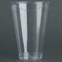 Fineline Savvi Serve 414 14 oz. Tall Clear Hard Plastic Tumbler - 20 / Pack