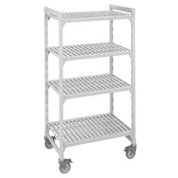 Cambro Camshelving Premium CPMS213675V4480 Mobile Shelving Unit with Standard Casters 21 inch x 36 inch x 75 inch - 4 Shelf