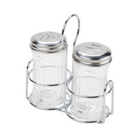 American Metalcraft MGLCS Mini Glass Shaker and Caddy Set