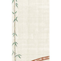 8 1/2 inch x 11 inch Menu Paper Asian Themed Bamboo Design Left Insert - 100/Pack