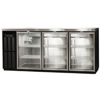 Continental Refrigerator BBC79-GD 79 inch Glass Door Back Bar Refrigerator