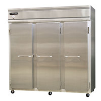 Continental Refrigerator 3RS 78 inch Solid Door Shallow Depth Reach-In Refrigerator