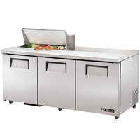True TSSU-72-8-ADA 72 inch Three Door ADA Height Sandwich / Salad Prep Refrigerator