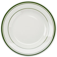 Tuxton TGB-007 7 1/8 inch Wide Rim Rolled Edge Green Bay China Plate 36/Case