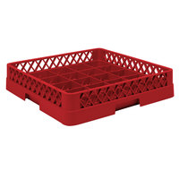 Vollrath TR16 Traex Full-Size Red 25-Compartment 3 inch Cup Rack