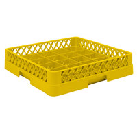 Vollrath TR16BBB Traex Full-Size Yellow 25-Compartment 7 7/8 inch Cup Rack
